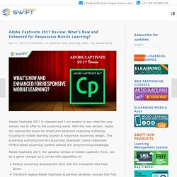 Adobe Captivate 2017, New HTML5 responsive Smart elearning Tool, mLearning