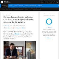 Harman Kardon Invoke featuring Cortana: Captivating sound meets personal digital assistant - Windows Experience BlogWindows Experience Blog
