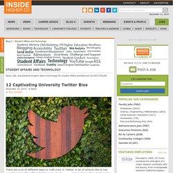 12 Captivating University Twitter Bios