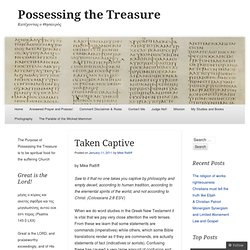 Taken Captive « Possessing the Treasure