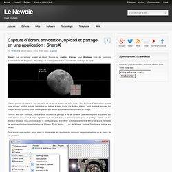 Capture d'écran, annotation, upload et partage en une application