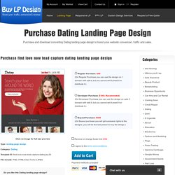 find love now lead capture dating landing page design
