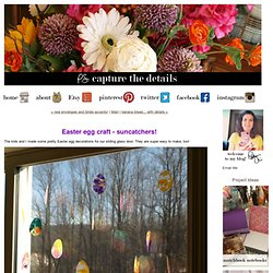 Capture the Details: Easter egg craft - suncatchers!