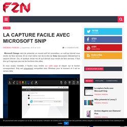 La capture facile avec Microsoft Snip
