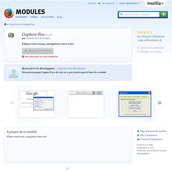 Capture Fox :: Modules pour Firefox