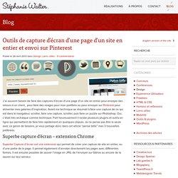 Outils de capture d'écran d'une page d'un site en entier et envoi sur Pinterest - Stéphanie Walter : Design web et mobile, UX et UI design