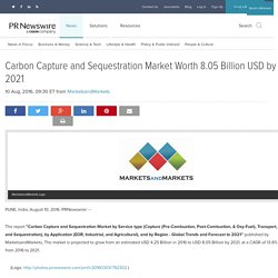 Carbon Capture and Sequestration Market Worth 8.05 Billion USD by 2021