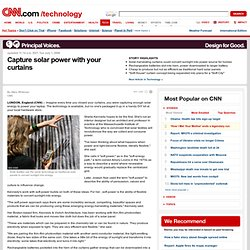 Capture solar power with your curtains