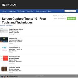 Screen Capture Tools: 40+ Free Tools and Techniques - Hongkiat