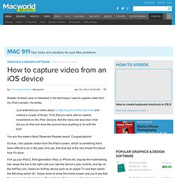 How to capture video from an iOS device