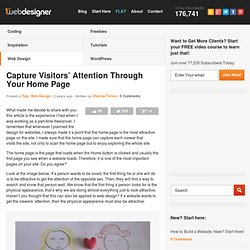 Capture Visitors' Attention Through Your Home Page