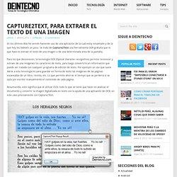 Capture2Text, para extraer el texto de una imagen