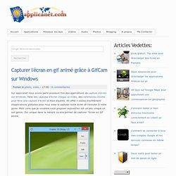 Capturer l'écran en gif animé grâce à GifCam sur Windows