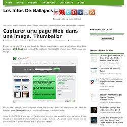 Capturer une page Web dans une image, Thumbalizr