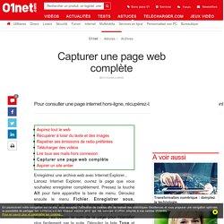 Capturer une page web complète