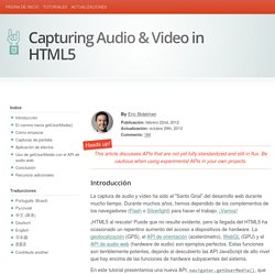 Capturing Audio & Video in HTML5