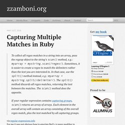 Capturing multiple matches in Ruby - zzamboni.org