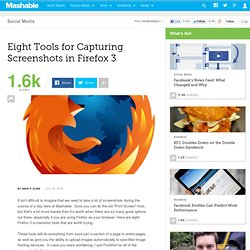 Eight Tools for Capturing Screenshots in Firefox 3