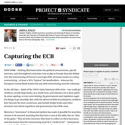 Capturing the ECB - Joseph E. Stiglitz - Project Syndicate