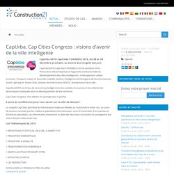 CapUrba, Cap Cities Congress : visions d'avenir de la ville intelligente