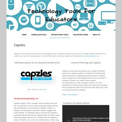 Capzles - Technology Tools for Educators