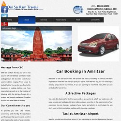Car Booking in Amritsar - Om Sai Ram Travels