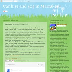 Car hire and 4x4 in Marrakesh