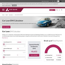 Car Loan EMI Calculator - Axis Bank