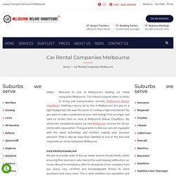 Look For Reputed Car Rental Companies Melbourne