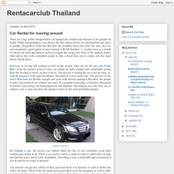 Car Rental for moving around