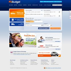 Car Rentals from Budget