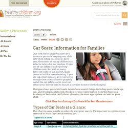 Car Seats: Information for Families