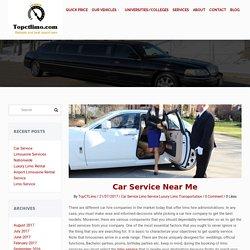 Car service near me - Top CT Limo