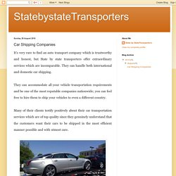 StatebystateTransporters: Car Shipping Companies