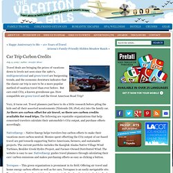 Car Trip Carbon Credits | The Vacation Gals