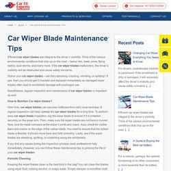 Car Wiper Blades · Carfit