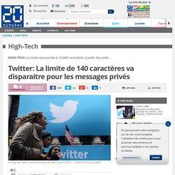 Twitter: La limite de 140 caractères va disparaitre pour les messages privés