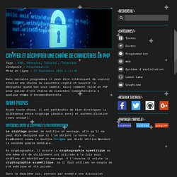 Crypter et décrypter une chaîne de caractères en PHP - Programmation - Blog - BaBeuloula - Mon Monde, Mes Créations