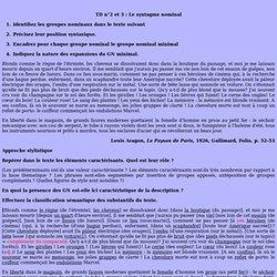 Cécile Narjoux -TD Licence - caractérisation - stylistique - le Paysan de Paris -Aragon