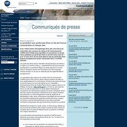 FinesParticules Ile-de-France temps réel