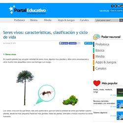 Seres vivos: características, clasificación y ciclo de vida