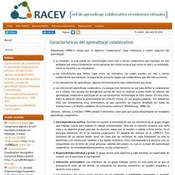 Características del aprendizaje colaborativo