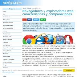 Navegadores y exploradores web, características y comparaciones.