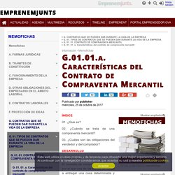 G.01.01.a. Características del Contrato de Compraventa Mercantil - Memofichas
