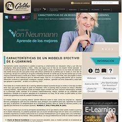 Características de un modelo efectivo de e-Learning
