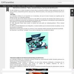 EAFisraeldiaz: Elementos sintéticos: Tipos, características y formas de identificación.