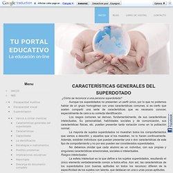 Características generales del superdotado - Tu Portal Educativo. La educacion on-line