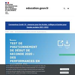 Test de positionnement de début de seconde 2020 : des performances en hausse en français, mais des résultats toujours contrastés selon les caractéristiques des élèves et des établissements