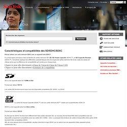 Caractéristiques et compatibilités des SD/SDHC/SDXC