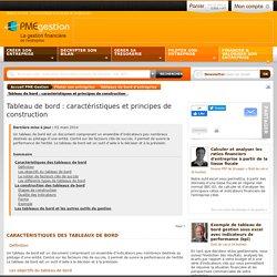 Les tableaux de bord : caractéristiques et principes de construction - Piloter son entreprise - PME-Gestion